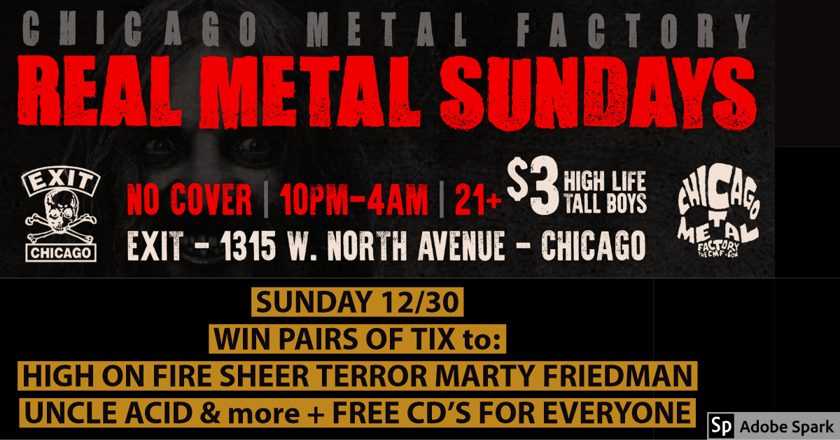 Metal Sunday WIN – HIGH ON FIRE SHEER TERROR UNCLE ACID